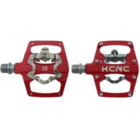 KCNC AM Trap-TI Pedały zatrzaskowe Dwustronne, red